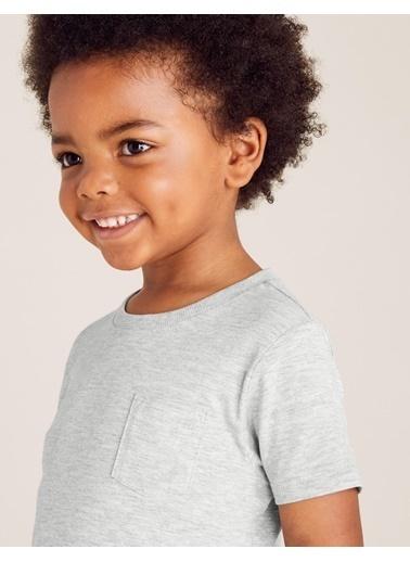 Marks & Spencer Organik Pamuklu Kısa Kollu T-Shirt Gri